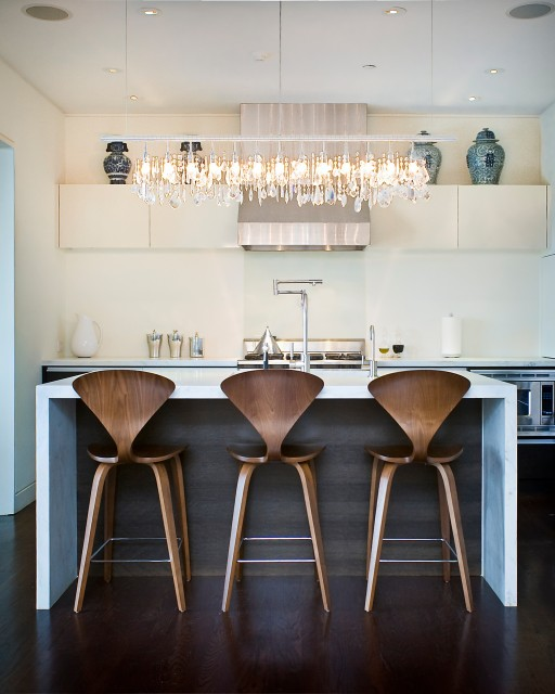 Modern Kitchen Bar Stools Kitchen Islands With Table: Lighting Options Over The Kitchen Island
