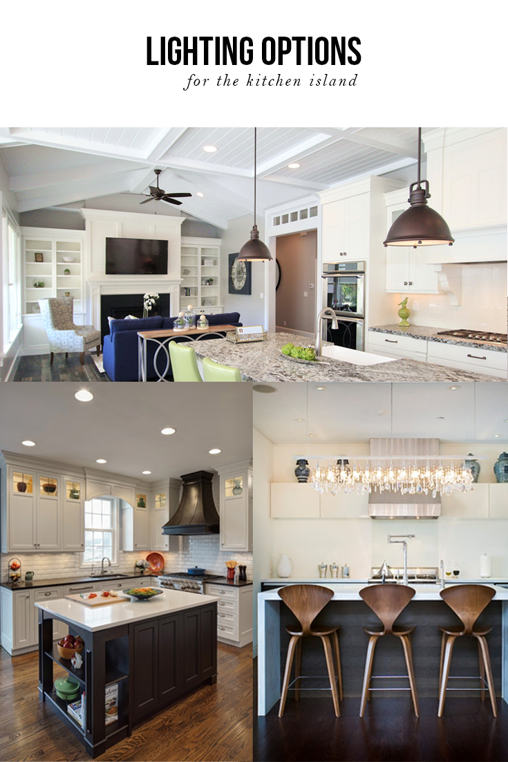 Lighting Options For Kitchens Lighting Options Over The Kitchen Island